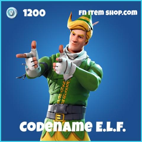 codename elf e.l.f. skin rare fortnite