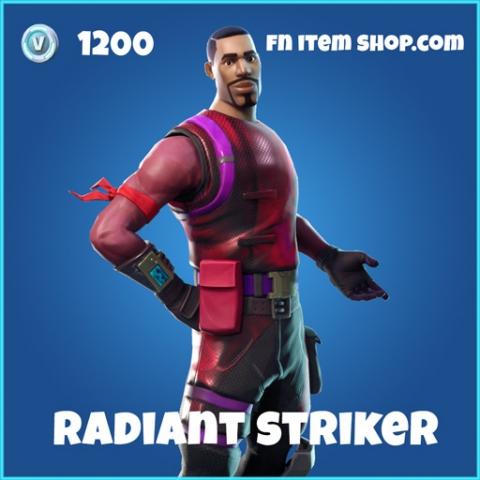 radiant striker rare skin fortnite