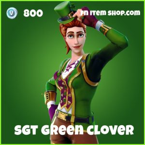 Sgt green clover skin uncommon fortnite