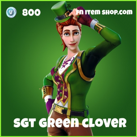 Sgt green clover skin uncommon fortnite