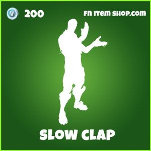 Slow Clap 200 Uncommon Emote fortnite