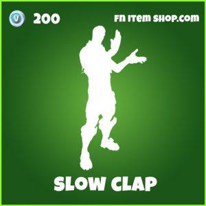 Slow Clap 200 Uncommon Emote fortnite