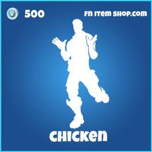 chicken 500 rare emote fortnite