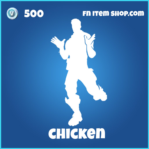chicken 500 rare emote fortnite