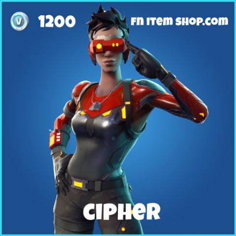 cipher 1200 rare skin fortnite