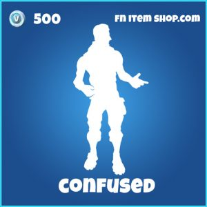 Confused Emote 500 rare fortnite