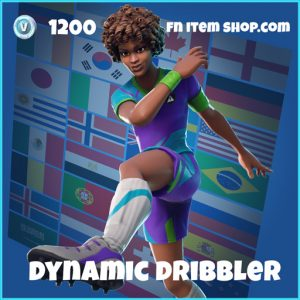 dynamic dribbler wk18 1200 rare skin fortnite
