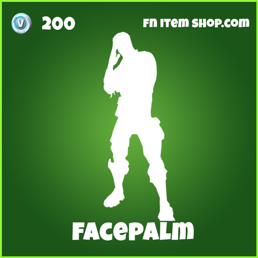 facepalm 200 emote uncommon fortnite
