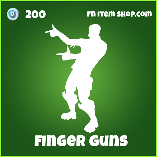 Finger Guns 200 emote uncommon fortnite