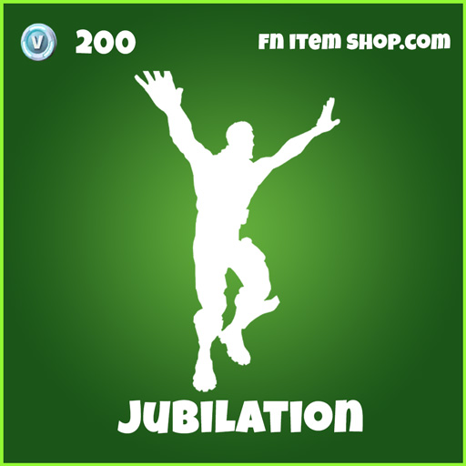 Jubilation Emote 200 Uncommon fortnite