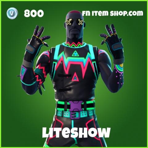 liteshow uncommon 800 skin fortnite