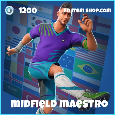 midfield maestro wk18 1200 rare skin fortnite