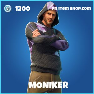 moniker 1200 rare skin fortnite