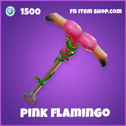 Pink Flamingo 1500 Epic Pickaxe fortnite