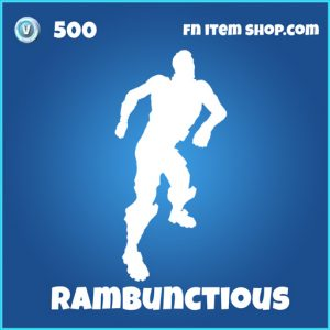rambunctious 500 rare emote fortnite