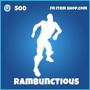 rambunctious 500 rare emote fortnite