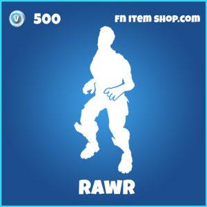rawr 500 rare emote fortnite