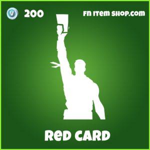 red card 200 uncommon emote fortnite