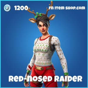 red nosed raider 1200 rare skin fortnite