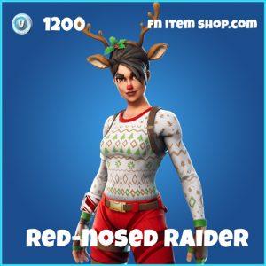 red nosed raider 1200 rare skin fortnite