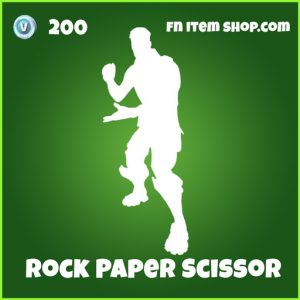 Rock Paper Scissor Uncommon 200 emote fortnite