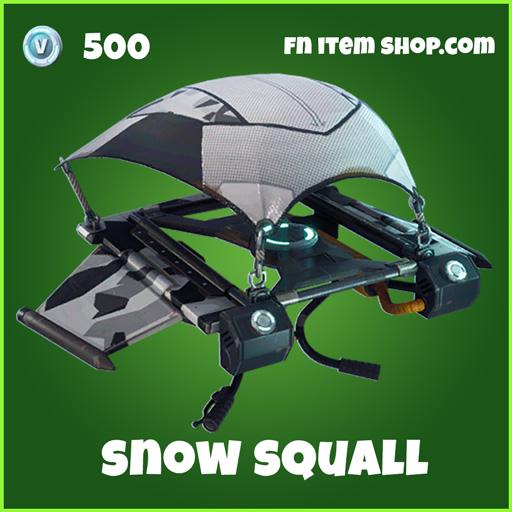 Snow Squall 500 Glider uncommon fortnite