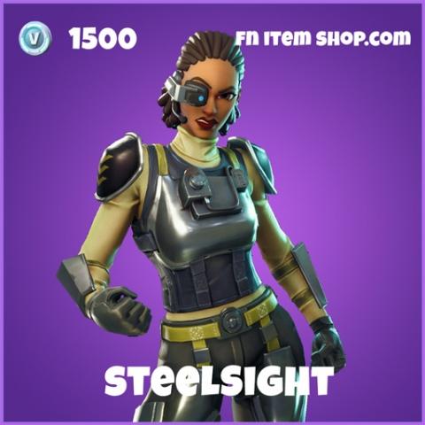 steelsight skin 1500 epic fortnite
