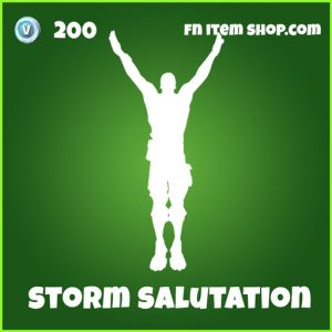 Storm Salutation Emote 200 Uncommon fortnite
