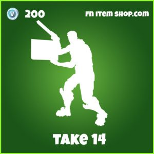 take 14 200 uncommon emote fortnite