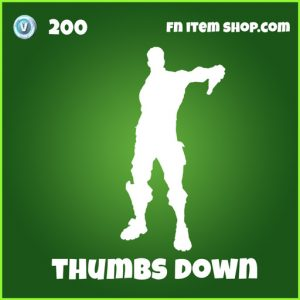 thumbs down 200 uncommon emote fortnite