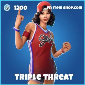triple threat 1200 rare skin fortnite