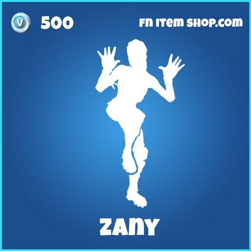zany rare emote 500 fortnite
