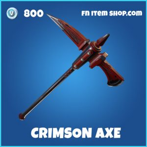 crimson axe 800 rare pickaxe fortnite