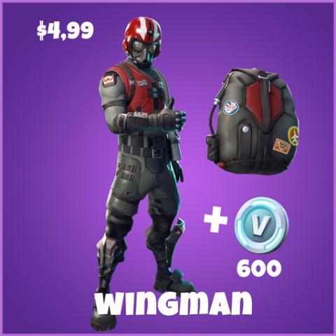 wingman epic pack skin fortnite