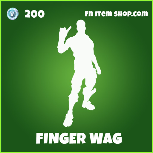 Finger Wag uncommon emote fortnite