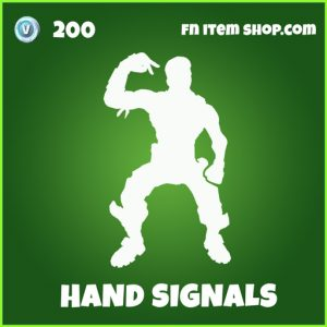 Hand Signals uncommon emote fortnite
