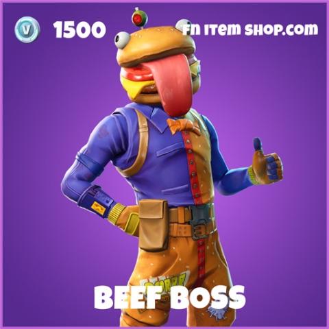 Beef boss epic fortnite skin