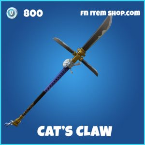 Cat's Claw rare fortnite pickaxe