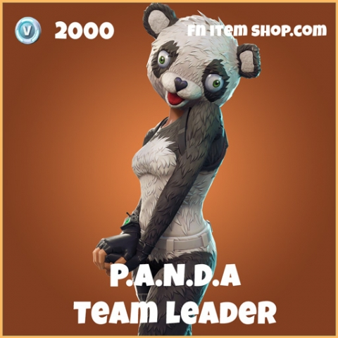 P.A.N.D.A PANDA team leader legendary fortnite skin