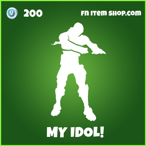 my idol! uncommon fortnite emote