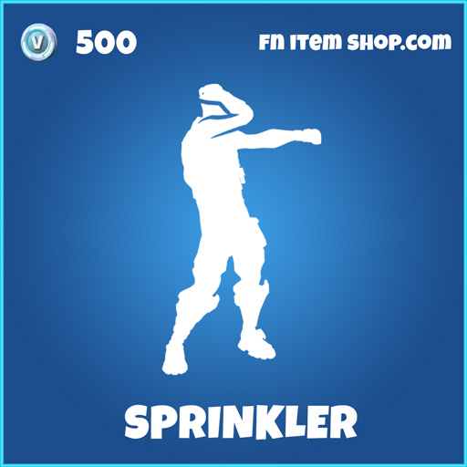 Sprinkler rare fortnite emote