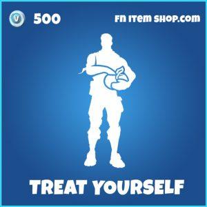 Treat Yourself rare fortnite emote