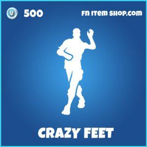 Rare crazy feet fortnite emote