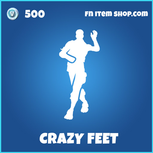 Rare crazy feet fortnite emote