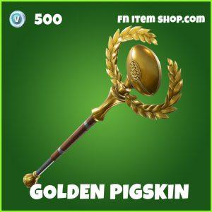 Golden pigskin uncommon fortnite pickaxe