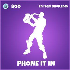 phone it in epic fortnite emote