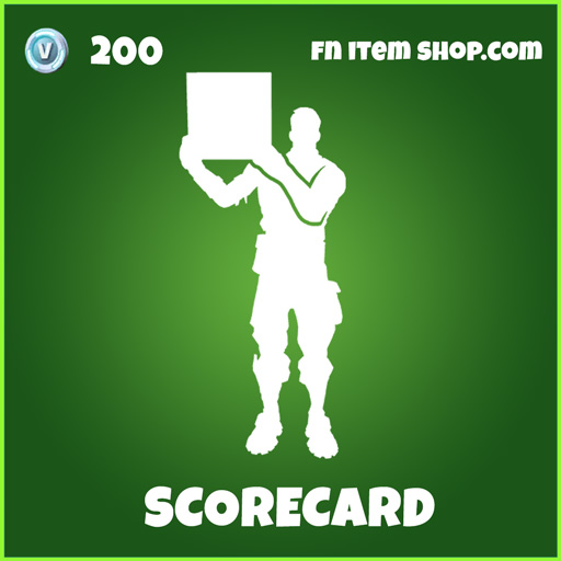 Scorecard uncommon fortnite emote