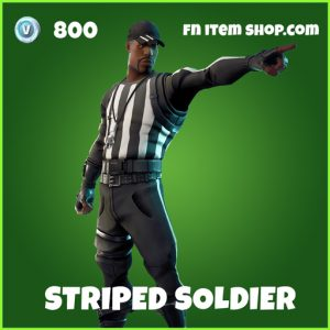 Striped Soldier uncommon fortnite skin