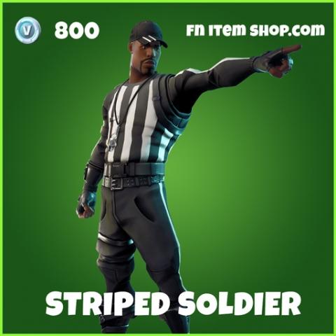 Striped Soldier uncommon fortnite skin