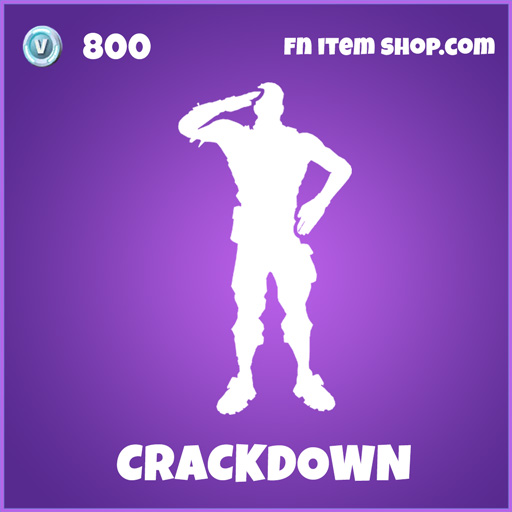 crackdown epic fortnite emote